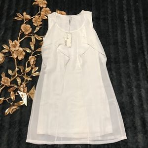 3/$25 NWT Miilla White Semi Sheer Sleeveless Dress